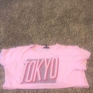 Forever 21 Tokyo Pink Crop Top